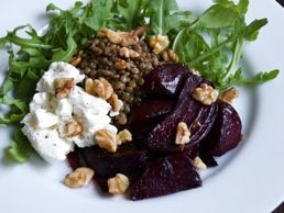 Roasted Beet and Lentil Salad | Salads | Pinterest