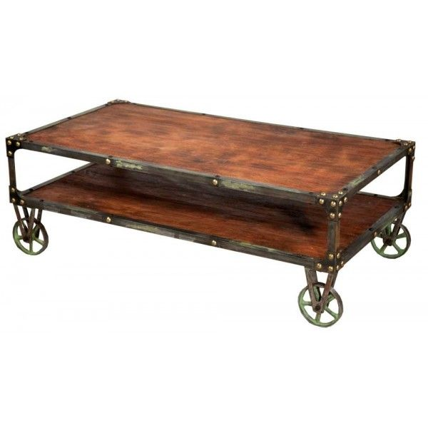 Large Coffee Table Industrial Style: Cool Industrial Style Coffee Table