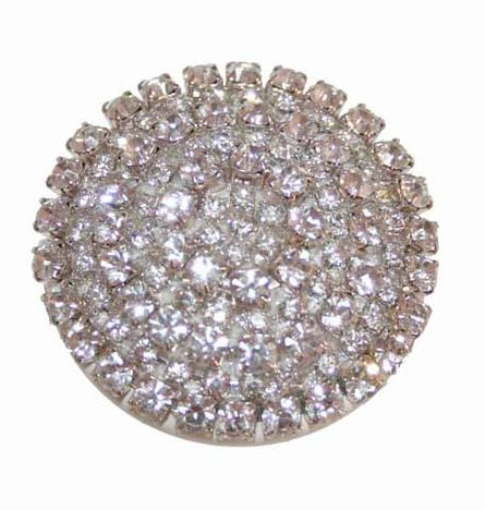 How can you resist this handmade rhinestone knob for any piece of