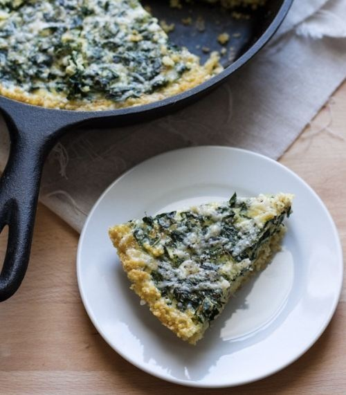 Winter Greens & Gruyere Tart With A Cornmeal Millet Crust ...
