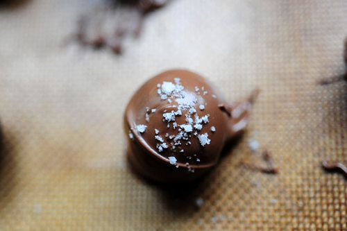 Chocolate Mint Truffles - chocolate truffles with sea salt recipe ...