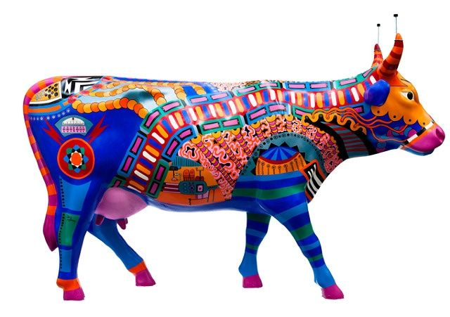 Colorful cow | Observations | Pinterest