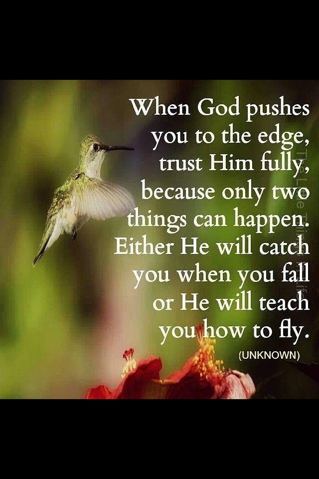 Always trust Gods plan