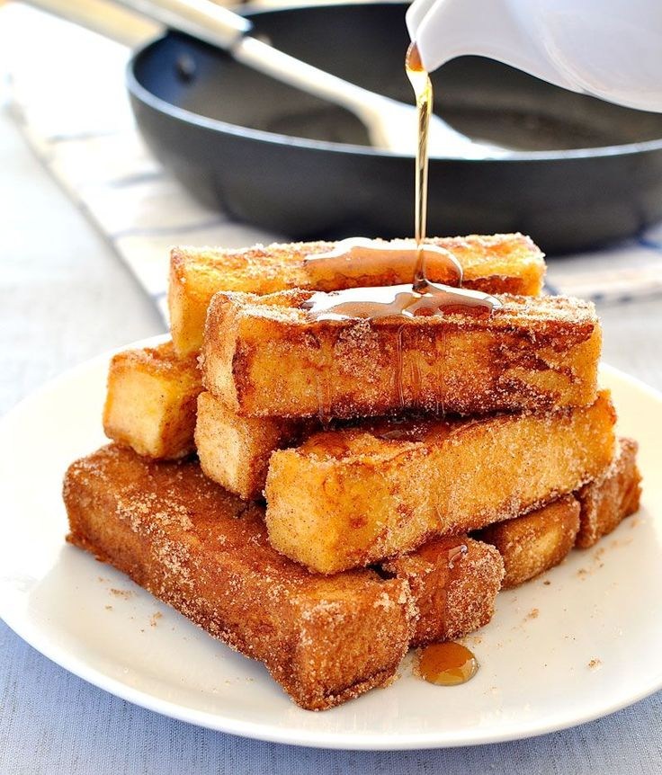French toast you can eat with your fingers, tastes like cinnamon ...