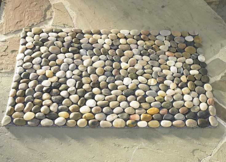 multi color river stone mat my missouri house pinterest