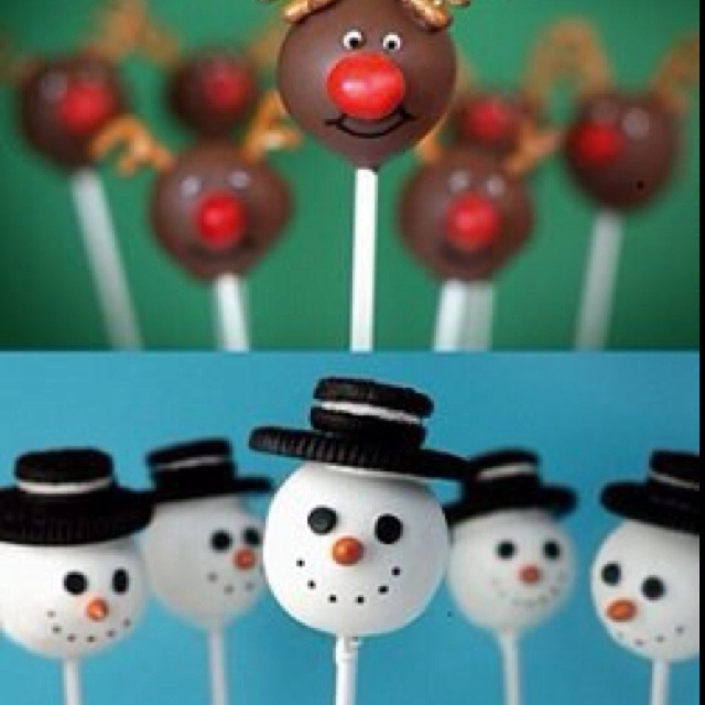 Christmas Cake Pop Ideas Pinterest : Holiday cake pop ideas Baking and Decorating Pinterest