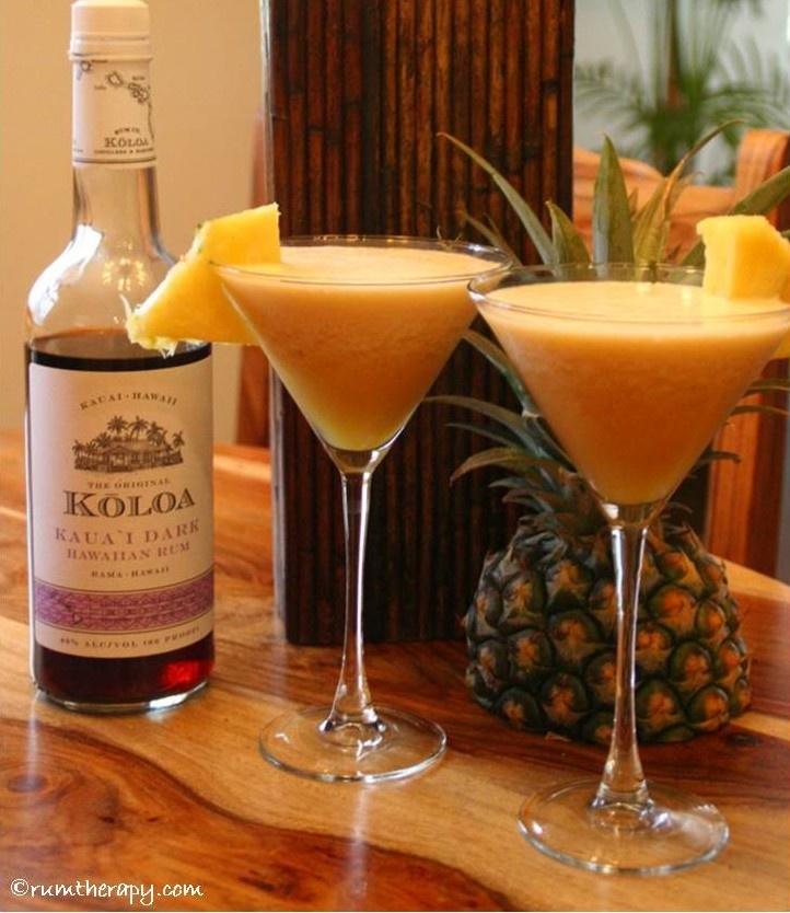 Pineapple Daiquiri made with Kōloa Kaua'i Dark Rum