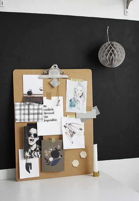 be realistic - demand the impossible clipboard moodboard DIY by AMM blog, via Flickr