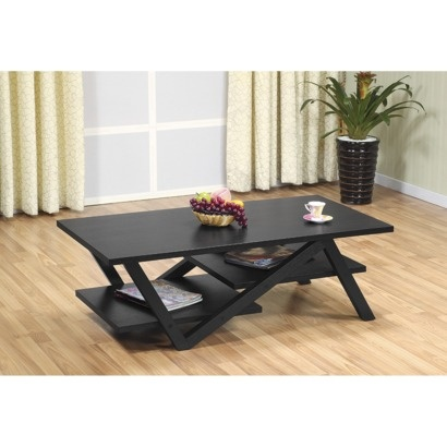 Modern Rectangular Coffee Table - Black  Library Office Decor  Pint ...