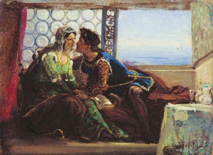 Romeo and Juliet by Makovsky Konstantin