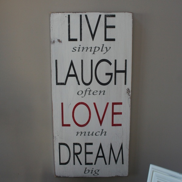 Live laugh love dream wall decor diy diy pinterest for Live laugh love wall art