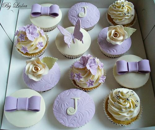 Wedding - Lavender Cupcakes   Color Crush ~ Lavender   Pinterest