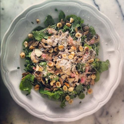 Warm mushroom salad with hazelnuts! | Recipes I'd like to try | Pinte ...
