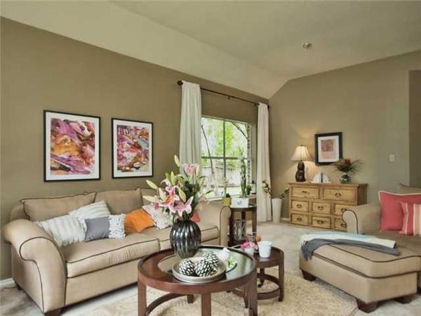 Tan Living Room Beauteous Design Decoration