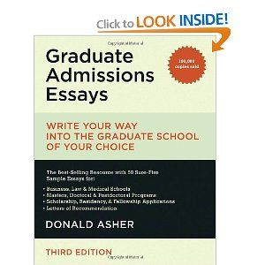 write grad admission essay