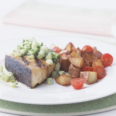 Grilled Swordfish with Cucumber Lime Salsa