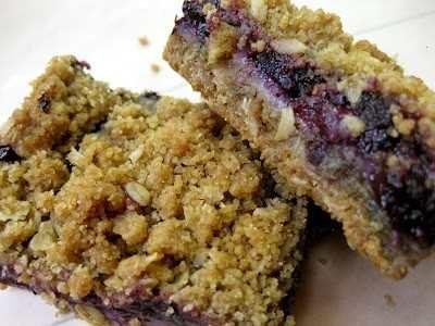 my vegan blueberry cheesecake streusel bars!!!
