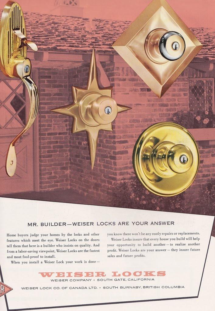 Mad for Mid-Century: Weiser Mid-Century Modern Door Knobs