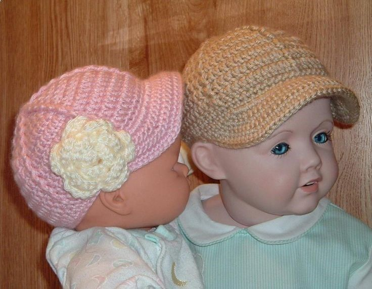 Crochet Pattern For Baby Stocking Cap : Crochet Baby Baseball Cap PDF Pattern Crochet Pinterest
