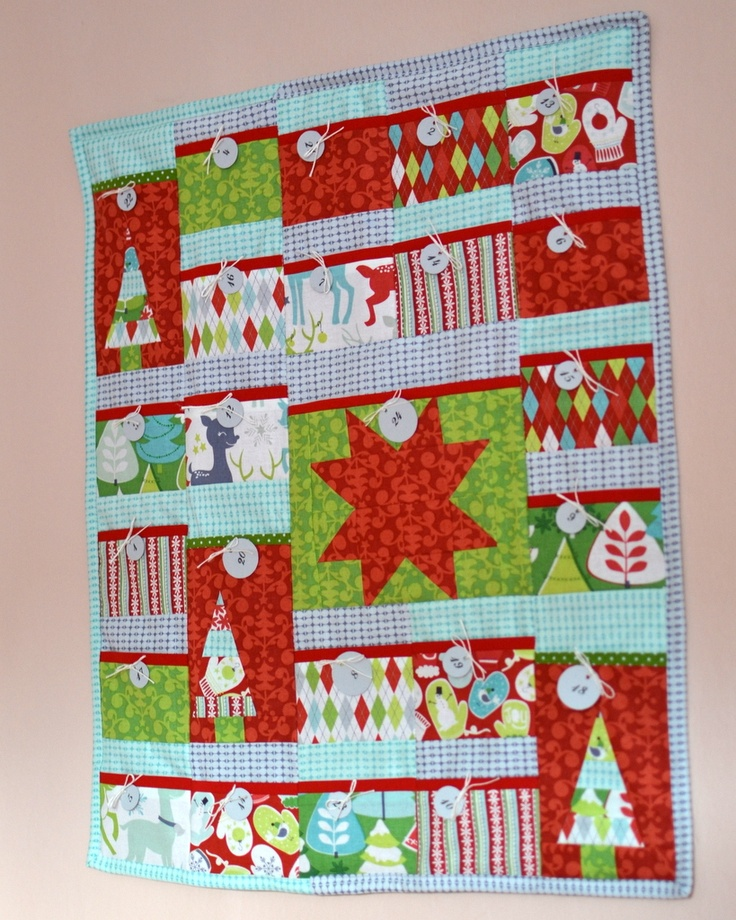 Advent Calendar | My quilt | Pinterest