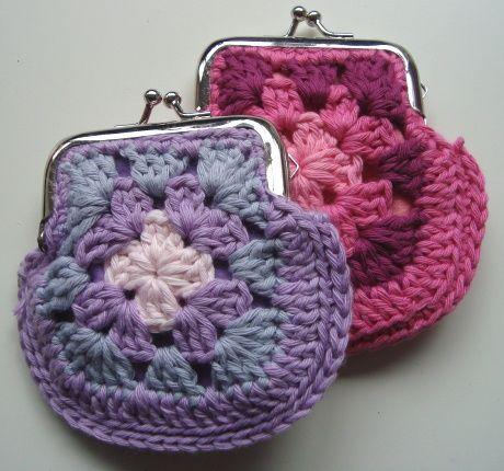 granny coin purse crochet tutorial
