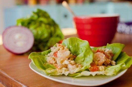 Shrimp Quinoa Lettuce Wraps | HEALTHY FOOD | Pinterest
