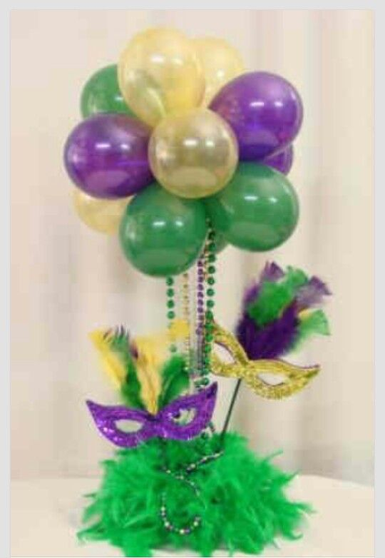 how to make mardi gras decorations