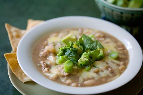 Turkey White Chili - delish. made it before. just used canned beans ...