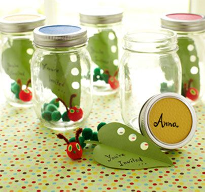 DIY party invites - Hungry Caterpillar