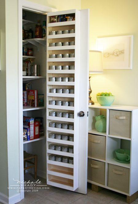 Behind The Door Spice Rack Get Organised Pinterest
