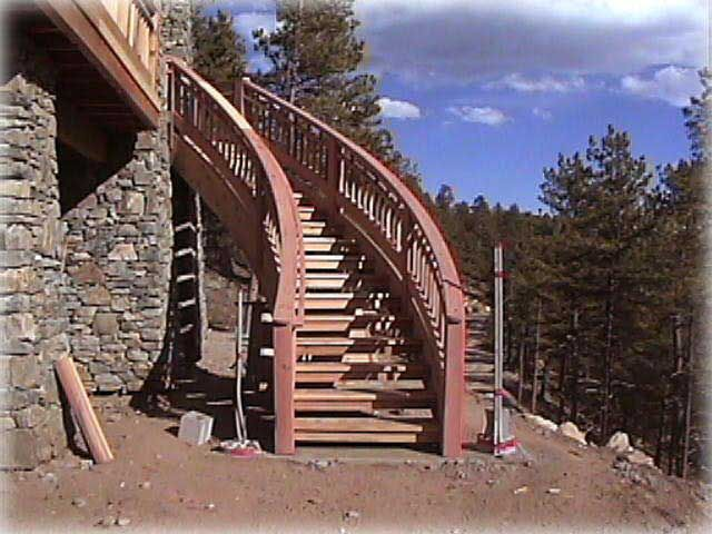 Exterior Wood Soft Spiral Staircase Spiral Stairs