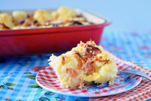 Cauliflower-bacon gratin | 4Pure - Main dish | Pinterest