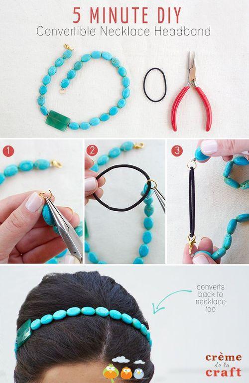 Necklace Headbands DIY