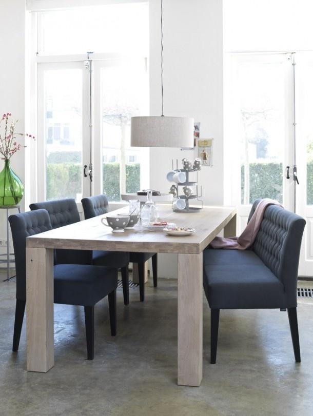 Eettafel met bankje  Huis en Tuin  Pinterest