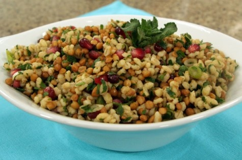 Barley Lentil Salad - Try substituting agave syrup for the ice syrup.