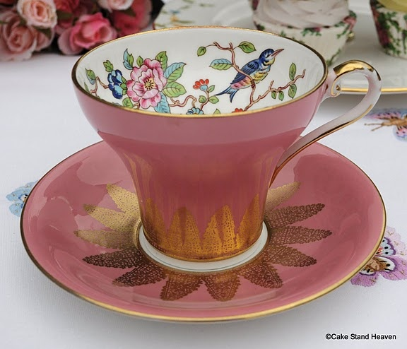 Aynsley China Pink Teacup and Saucer