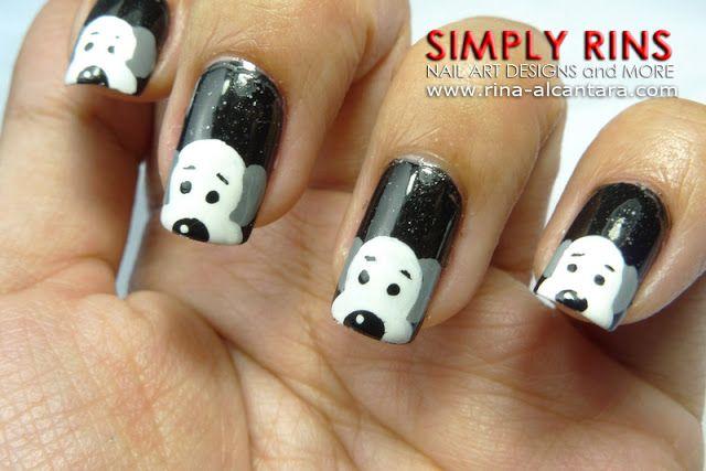 Nail Art Designs Dog : Dog or puppy nail art design