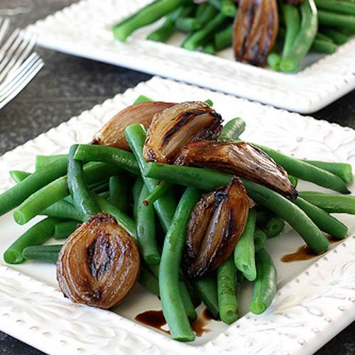 Green Beans with Balsamic Roasted Shallots | Recipe