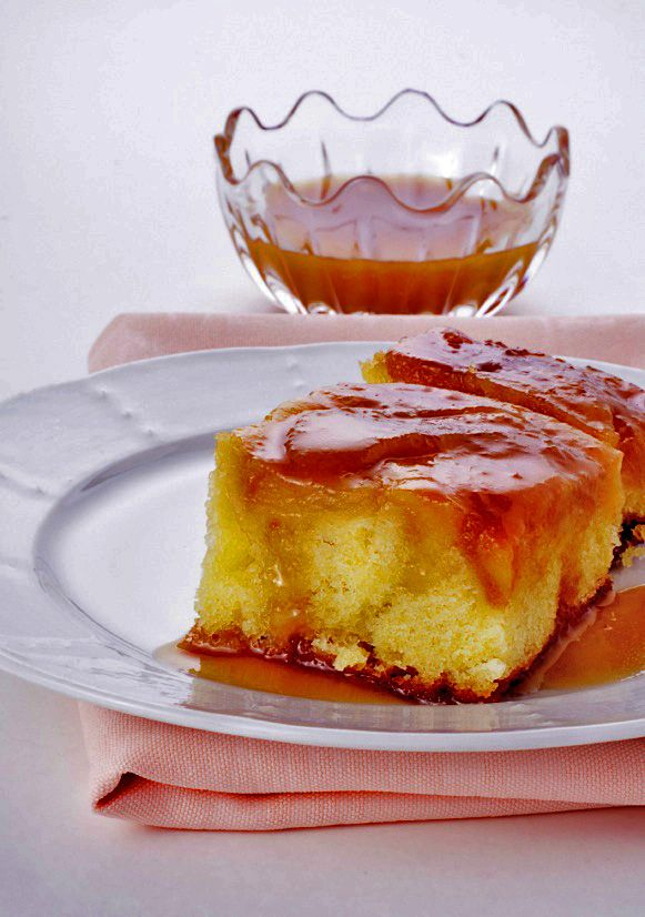 Apple Cake with Rum-Caramel Sauce | holiday | Pinterest