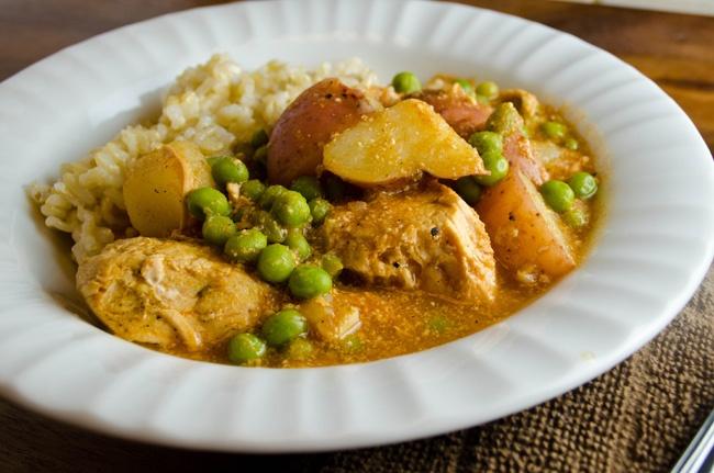 Garam Masala Chicken Stew {Slow Cooker}