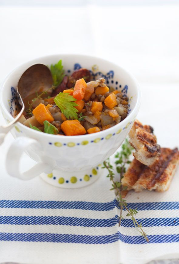 Lentil and root vegetable soup recipe. I really like this soup--be ...