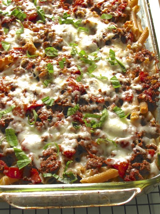 Beef and Tomato Pasta al Forno | Recipes | Pinterest