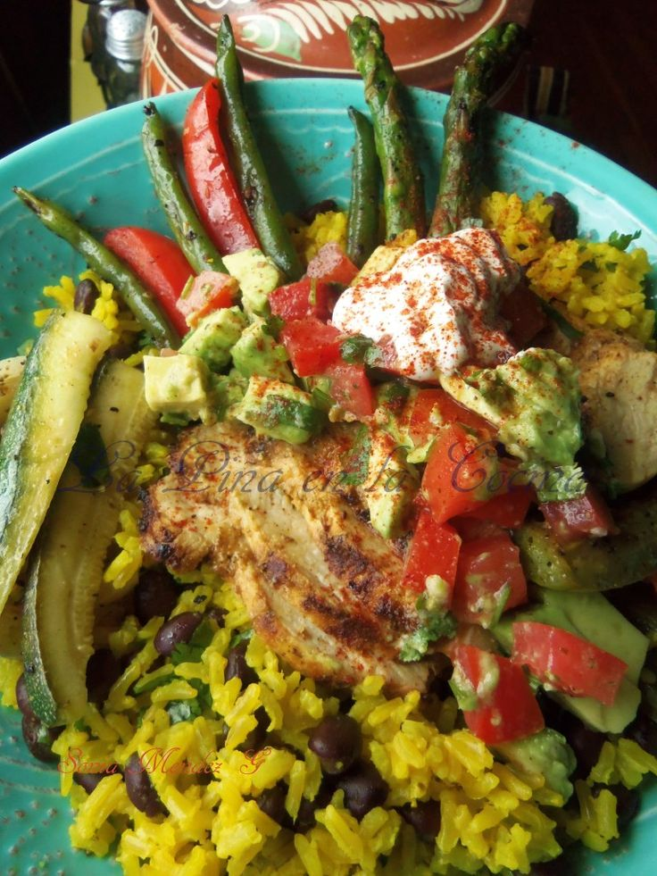... Grilled Lemon Pepper Vegetables and Steamed Yellow (brown) Rice with