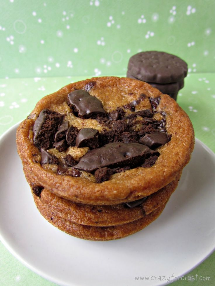 Crazy for Crust: Deep Dish Thin Mint Chocolate Chip Cookies (I'm ...