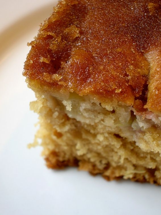 rhubarb cake - uses 1.5 cups rhubarb. made 8/21/13. big hit with the ...