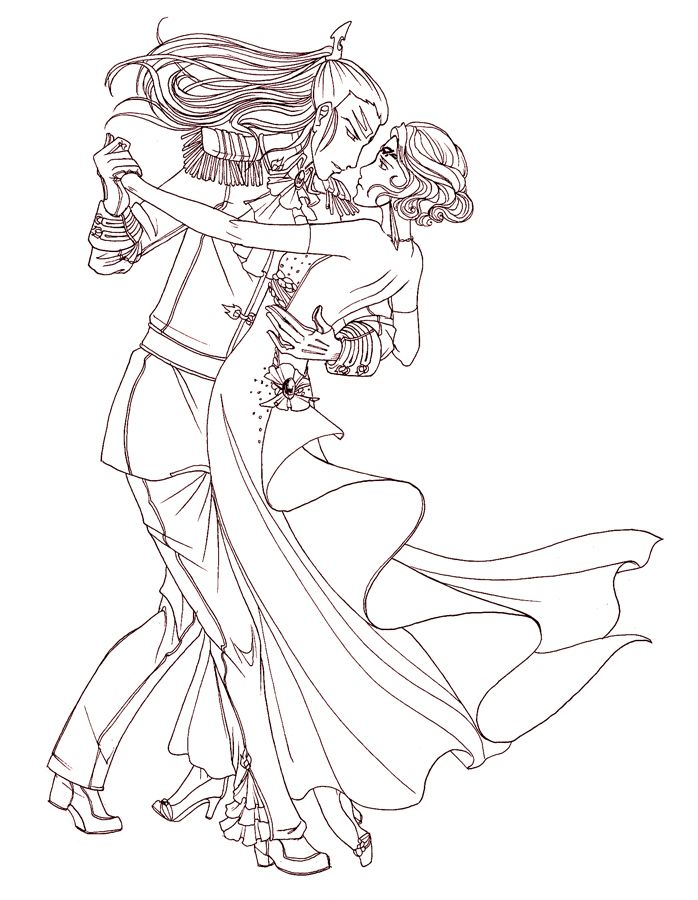 ballroom dancer coloring pages - photo#10