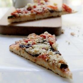 Zucchini Goat Cheese Pizza | Food & Drink | Pinterest