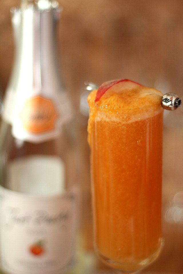 Peach Bellini — Creative Culinary :: Food & Cocktail Recipes - A ...