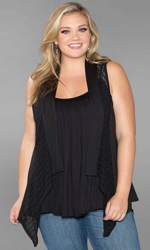 #plussize #plus #size #plussize #plus_size #curvy #fashion #clothes Shop www.curvaliciousclothes.com SAVE 15% Use code: SVE15 at checkout Taylor Vest Black
