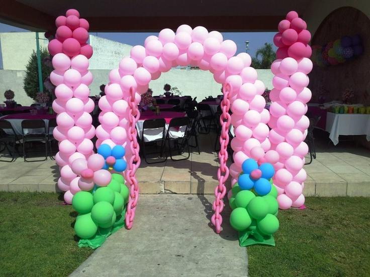 Decoracion Rapunzel Globos ~ Arco de Castillo  Rapunzel  Pinterest